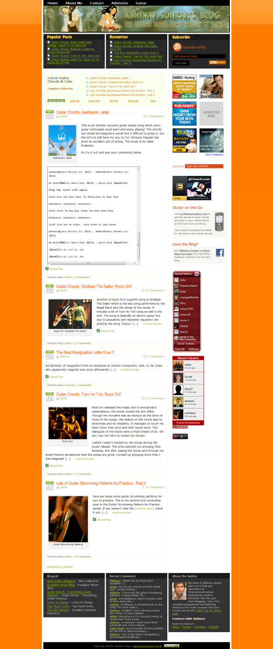 AbhinavSonkar.com Version 2 - Refurnished and Redesigned