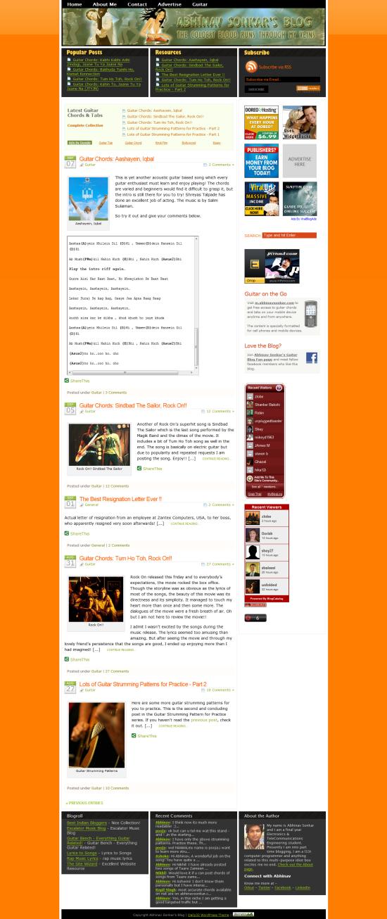 AbhinavSonkar.com Version 2 - Refurnished and Redesigned